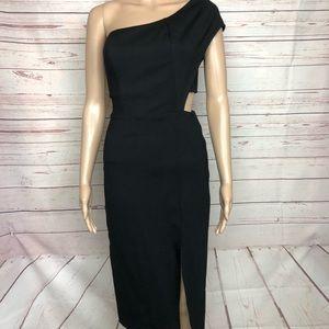 GB Black One Shoulder Bodycon Dress Size S